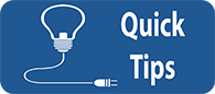 click on to access quick tips