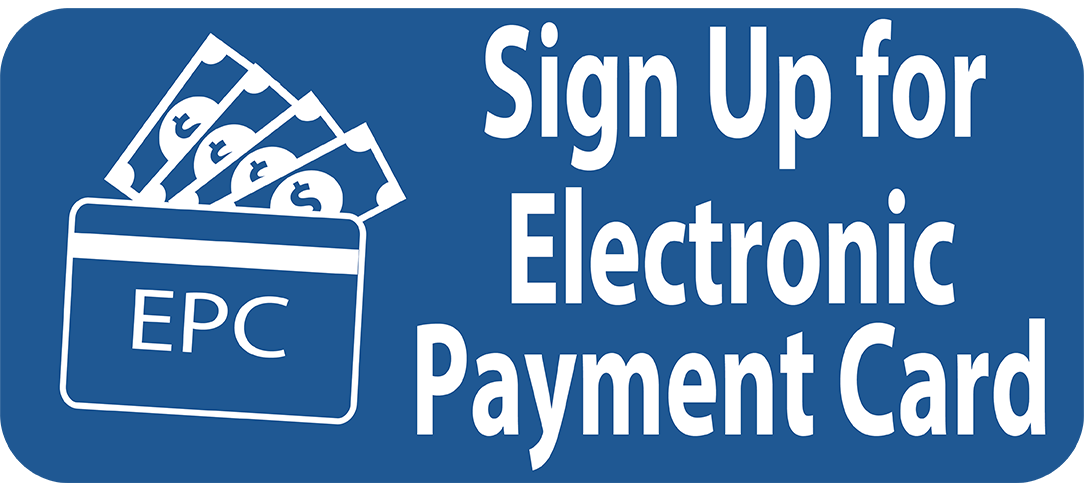 sign up for electronic payment card