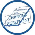 click on link to learn more about the change of child support amount step.