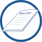 "image of paper with phrase ""new case"""