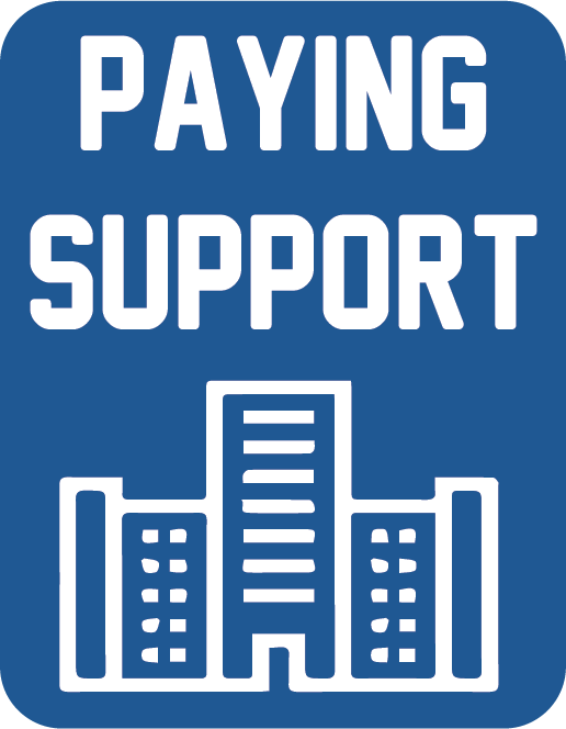 Paying support button