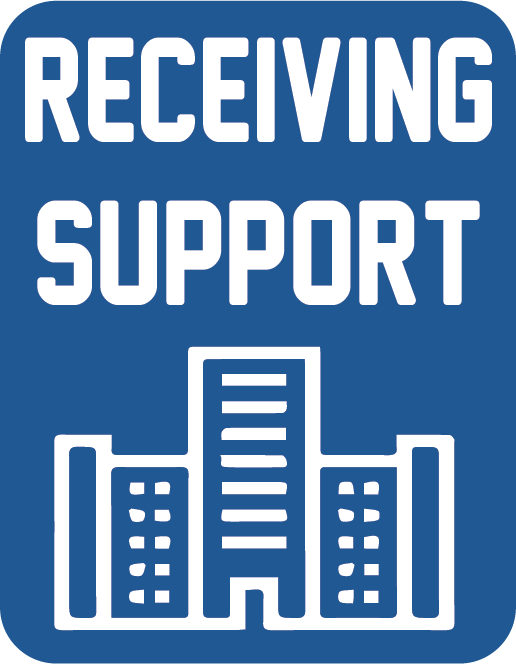 Receiving support button